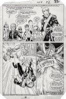 ADAMS, ART - Longshot #4 last pg, half-splash, LS & costumed kids vs  monster Gog Comic Art