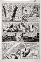 ROMITA JR, JOHN / BLEVINS / inks WILLIAMSON - Uncanny X-Men #211 pg 17, Team, Mutant Massacre Comic Art