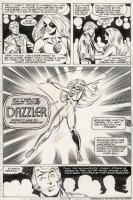 BYRNE, JOHN - Fantastic Four #217 Semi-Splash Dazzler intro - 4th app same as X-Men #132 Comic Art