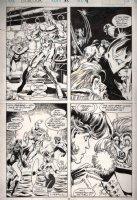 MADUREIRA, JOE - Excalibur #57 pg 19, Four Panels, cross-over story, 1st X-Men story Comic Art