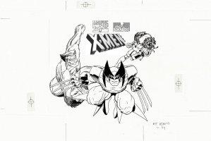 ADAMS, ART - X-Men Advertising Art, Wolvie Beast Rogue for Chief Boy.1994 Comic Art