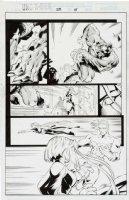 MADUREIRA, JOE / Tim Townsend inks - Uncanny X-Men #334 pg 15, Storm, Beast & Dark Beast, Cannonball Comic Art