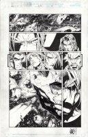 MADUREIRA, JOE / Tim Townsend - Uncanny X-Men #342 pg 7, Beast, Rogue, Bishop, Gambit, Magneto/ Joseph, Trish Tilby in Star Cruiser Comic Art