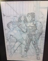 ADAMS, ART - Ultimate X #1 finished pencil splash, Wolverine, Kitty Pryde, son of Wolvie - Jimmy Hudson Comic Art