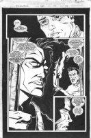 JONES, CASEY - Warren Ellis' Excalibur #92 splashy close-up Nightcrawler Comic Art