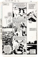 GOLDEN, MIKE - Uncanny X-Men Annual #7 chapter 2 pg 8 / 10, XTeam in the air - signed 1983 Comic Art