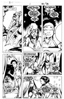 POLLINA, ADAM - X-Force # -1 pg 14 Death of Thunderbird foretold, John & James Proudstar w/ lettering Comic Art