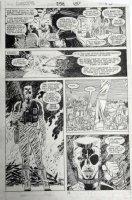 ROMITA JR, JOHN / AL WILLIAMSON - Daredevil #252 pg 15, Ammo ruling underground dwellers -  Fall of the Mutants  Comic Art