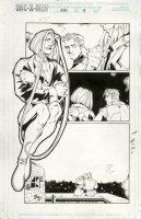 MADUREIRA, JOE - Uncanny X-Men #340 Splashy pg 19, huge Storm & Iceman Comic Art