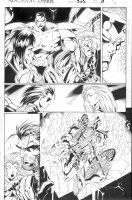 MADUREIRA, JOE / TOWNESEND inks - Uncanny X-Men #325 giant Issue pg 19, Wolverine, Storm, Colossus & Callisto - X-Men threatened Comic Art