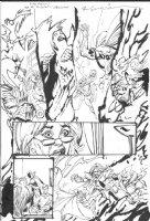 SIENKIEWICZ, BILL - JSA 80-Page Giant 2010 #1 pg 6, Star Spangled Kid-Courtney, GA Green Lantern / Alan Scott, Mordru; Eclipso Comic Art