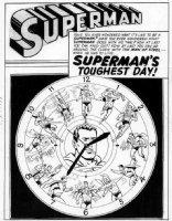 PLASTINO, AL & STAN KAYE - Action Comics #282 2up pg 1 splash, with 13 Superman's ! Comic Art
