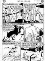 PLASTINO, AL & STAN KAYE - Action Comics #282 2up pg 3, Superman, Fortress of Solitude !  Comic Art