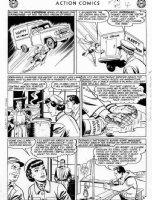 PLASTINO, AL & STAN KAYE - Action Comics #282 2up pg 4, Superman, Lois, Clark Robot!  Comic Art