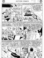 PLASTINO, AL & STAN KAYE - Action Comics #282 2up pg 8, Superman, Lois & Robot Clark  Comic Art