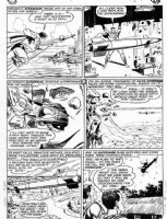 PLASTINO, AL & STAN KAYE - Action Comics #282 2up pg 9, Superman vs rocket  Comic Art