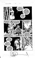 ADLARD, CHARLIE - Walking Dead #110 pg 19, King Ezekiel & Michonne -origin tiger Shiva Comic Art