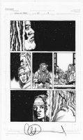 ADLARD, CHARLIE - Walking Dead #110 pg 9, Michonne & Ezekiel Comic Art
