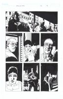 ADLARD, CHARLIE - Walking Dead #32 pg 14, Rick, Michonne, Glenn, Doctor, Mrs Williams, Martinez flee Governor' compound - FULL SIZE Comic Art
