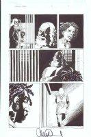 ADLARD, CHARLIE - Walking Dead #16 pg 6, Biker Axel, Andrew, prison scene - FULL SIZE Comic Art