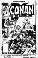 KWAPISZ, GARY - Conan #221 cover, Conan over pile of bodies Comic Art