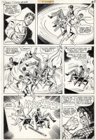DELBO, JOSE - Teen Titans #48 pg 7, Team,  Joker's Daughter origin, Two-Face  1977 Comic Art