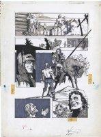 CHAYKIN, HOWARD - Kull And Barbarians Mag. #3 pg, Red Sonja origin,  Day of the Sword  1975 Comic Art