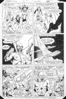 PATTON, CHUCK - Justice League America #236 pg 22, Aquaman, Martian Manhunter, Zatanna + new team Comic Art