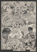 KIRBY, JACK / SYD SHORES - Captain America #9 lrg pg, Steve Rogers, Bucky / Winter Soldier, intro Black Talon 1941 Comic Art