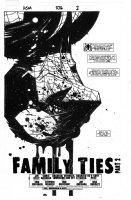 BACHALO, CHRIS / TIM TOWNSEND - Amazing Spiderman #576 pg 1 splash, Spidey close-up Comic Art