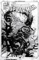 BACHALO, CHRIS / TIM TOWNSEND - Amazing Spider-Man #632 cover, Spidey - Lizard Comic Art