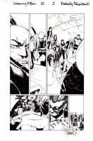 BACHALO & TIM TOWNSEND - Uncanny X-Men #22 pg 2, Magneto & X-Team aid a dying Dazzler Comic Art