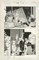 BACHALO, CHRIS / TOWNSEND - Uncanny X-Men #353 pg 14, Rogue in cutoffs, Magneto clone Comic Art