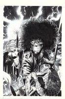 BACHALO, CHRIS - Evil Ernie #2 cover, Ernie & Lady Death, first CB P/I cover! 1992 Comic Art