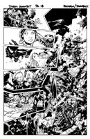BACHALO, CHRIS / TOWNSEND -  X-Men Storm & Gambit #1 half-splash pg 18 Comic Art