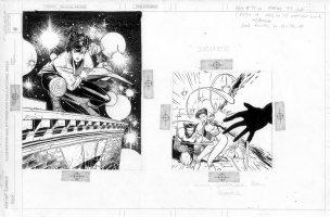 BACHALO, CHRIS -  Jubilee & Wolverine Marvel '94 card art - Front & Back Comic Art