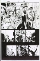 BACHALO, CHRIS / TIM TOWNSEND - Age of Apocalypse #1 pg 17, big panel, X-men Team, Magneto 2005 Comic Art