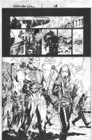 BACHALO, CHRIS / TOWNSEND - Ultimate War #1 semi-Splash, Rogue shots down X-Men' Rogue Comic Art