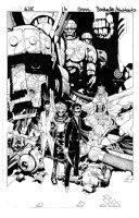 BACHALO, CHRIS / TOWNSEND - Wolverine & X-Men #16 cover, Wolverine & Magik defeated by New Hellfire Club (origin), Sentinels Comic Art