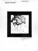 BACHALO, CHRIS -  Supergirl DC Upperdeck card art Comic Art