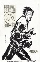 BACHALO & TIM TOWNSEND both signed - X-Men #144 cover recreation, Cyclops, drawn 2006 Comic Art