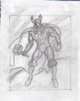 BALD, KEN - Thor pencil sketch, hammer ready Comic Art