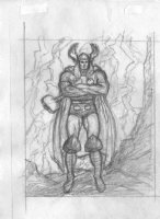BALD, KEN - Thor pencil sketch, arms crossed Comic Art