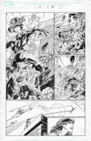 BAGLEY, MARK - Ultimate Spider-Man vs Hulk promo comic # pg 8, Spider-Man and Hulk come under chopper fire  Comic Art