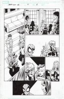 BAGLEY, MARK - Ultimate Spider-Man & Ultimate Avengers promo comic # pg 6, Spider-Man and the key Avengers Comic Art