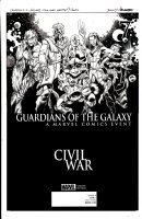 BAGLEY, MARK / HENNESSY - Guardians Of The Galaxy #7 Cover, Civil War Comic Art