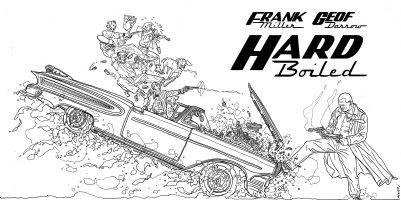 DARROW, GEOF - Frank Miller's Hard-Boiled, large promo cover, variation Hard Boiled #1 Comic Art