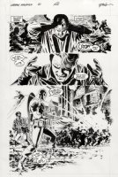 EPTING, STEVE - Captain America #31 pg 15, Bucky flashes back to WW 2 with Captain America and the Human Torch! Comic Art
