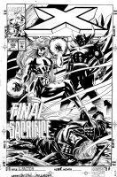 EPTING, STEVE - X-Factor #105 cover, Havok defeated by Polaris & Mr Sinister Comic Art