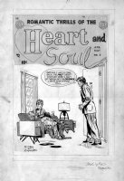 ANDRU, ROSS - Heart and Soul #1 twice-up cover, 1954 Comic Art